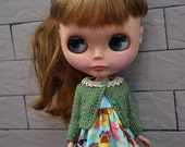 Cute cardigan for Dolls-Green