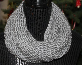 Cute Soft Grey Infinity Scarf
