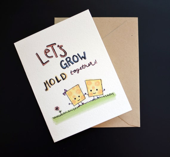 Cheesy Love Valentine's Day Or Anniversary Greeting Card: