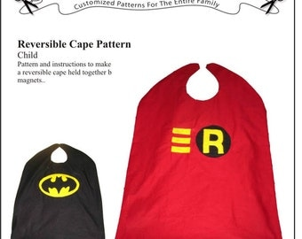 E-Version of the Fully-Reversible Cape for Children -- 4 different sizes included