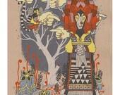 the lioness silkscreen