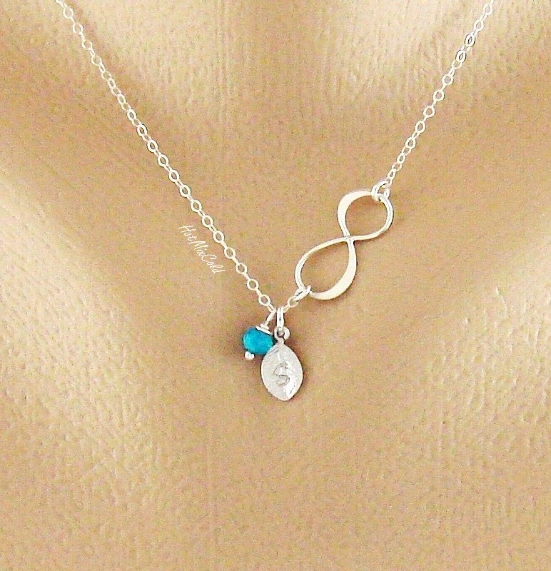 mother 39 s day necklace infinity necklace delicate initial. Black Bedroom Furniture Sets. Home Design Ideas