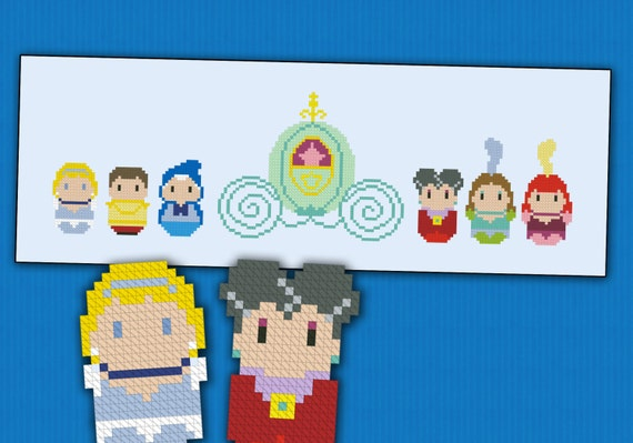 Cinderella Princess parody - Cross stitch PDF pattern