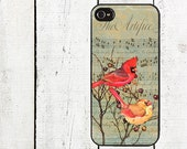 iphone 6 case Vintage Cardinal Cell Phone Case- for iPhone 4,4s  iphone 5 case Galaxy s3 s4 s5