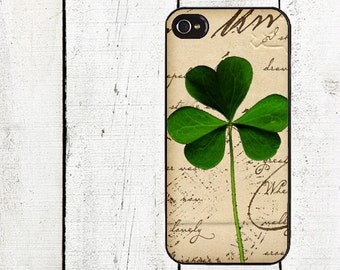 iphone 6 case Vintage Shamrock iPhone Case - for iphone 4,4s  iphone 5 case Galaxy s3 s4 s5 - St. Patrick's Day