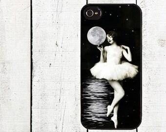 Vintage Ballerina Moon Goddess Phone Case for  iPhone 4 4s 5 5s 5c SE 6 6s 7  6 6s 7 Plus Galaxy s4 s5 s6 s7 Edge