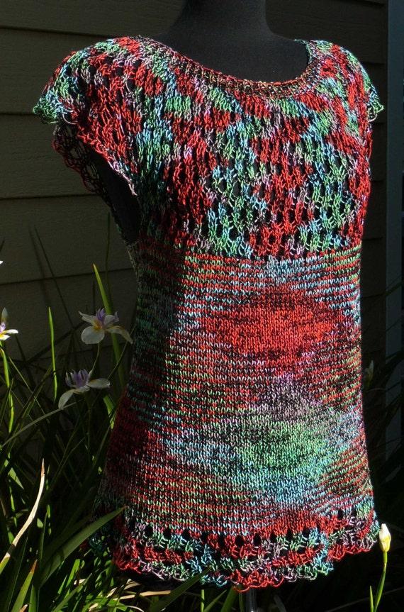 Machine Knitting Patterns Free Download : Ripple Top Machine Knit Pattern