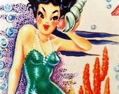 1950s Vintage Mermaid  Cross Stitch Pattern PDF