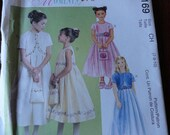 McCalls 3169 Special Moments Girls Dress, Lined Bolero and Purse Pattern sz CH 7 8 10 UNCUT