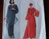 Vintage 70s Vogue Paris Original 1537 Yves Saint Laurent YSL Misses Dress and Pantdress Pattern size 8 B 31.5