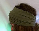 Buff - HeadBand - DreadBand - Hair Tube - Cowl - Olive Green Head Hugger XL