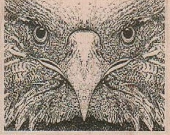 Rubber stamp Hawk Closeup wood  mounted  scrapbooking supplies number 19103