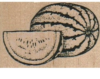 Rubber stamp mounted watermelon  fruit  stamp   number 12982  summer garden