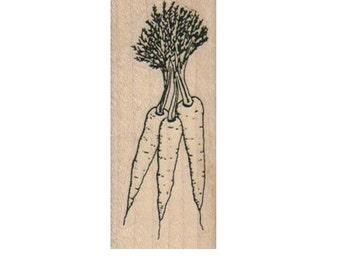Rubber stamp mounted carrots  plant    stamp   number 8828   summer garden