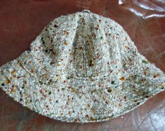 Irish Wool Hat Tweed Donegal Ireland SZ M Free Shipping USA