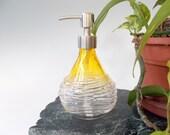 Hand Blown Art Glass Vanity Soap/Lotion  Dispenser by Rebecca Zhukov