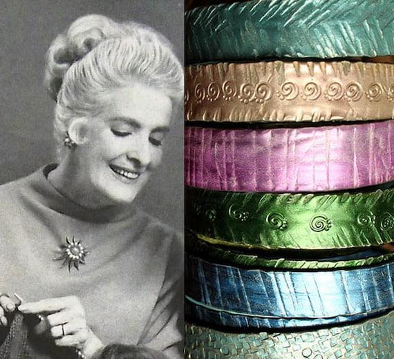 Custom Metal Knitting Needle Bracelet