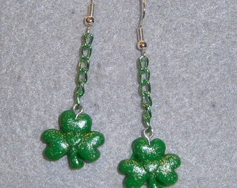 Hanging Shamrock earrings