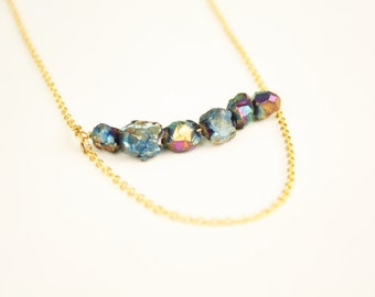 Jump Ropes Necklace Pyrite