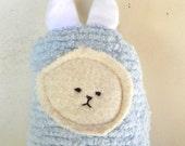 Soft Bunny Rabbit Doll,  Plush, Natural, Eco-Friendly, Blue Bunny Friend
