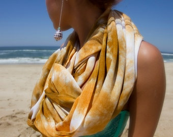 RESERVED FOR LIZ Bali Circle Scarf in Palomino Gold & Bronze