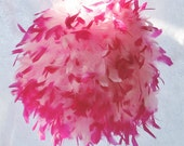 "Large 14"" 2 Toned Pink Feather Kissing Ball, Pink with hot pink tips, Feather Ball, you choose ribbon, centerpiece"