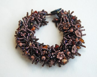 Rum Runner - Beaded Fringed Bracelet