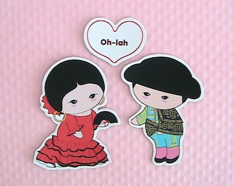 Greeting Magnets-Oh Lah