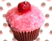 Chocolate Covered Cherries Cupcake Candle Chocolate Fruit Scent