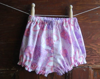 baby bloomers vintage purple size 0