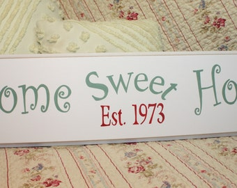 Home Sweet Home SIGN HAND PAINTED Cottage and Shabby Style