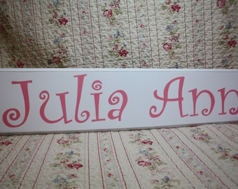 Custom Name SIGN Nursery Perfect Baby Shower Gift Shabby Chic Cottage Style