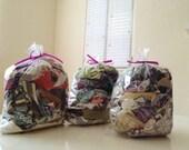 Japanese Cotton and Cotton Canvas Fabric Scraps - Assortment