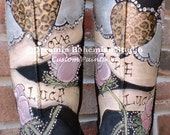 Custom hand Painting on your UGG boots with bLiNg Life Love Luck this is the DESIGN FEE