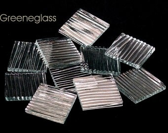 Clear Chord Glass for Mosaics and Stained Glass - Reg Pack - Diamond, Triangles, Rectangles, Squares, Strips