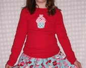 Cutie Cupcake Skirt Set for Girls Size 10-12 READY TO SHIP