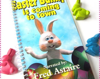 The EASTER BUNNY Is Coming to Town VHS Movie Video - Kids' Recycled Notebook / Upcycled Journal -  Eco Friendly