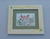 A print of The Faery Erin in a hand painted Frame