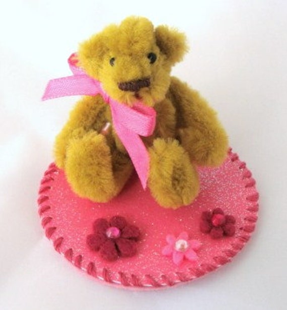 tiny ted pipe cleaner bear brown and pink