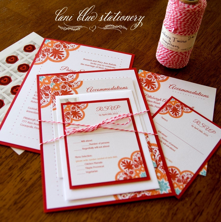 Spanish Tile Onepaperheart Stationary Invitations
