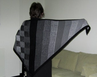 Illusion Knit Shawl - PDF pattern - Illustriation