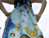 Star Wars OOAK Dress Upcycled 1977 Geek Adult Small to Plus size Custom Made Disney Cruise Resort C3PO Vader Luke Mom Party Maternity Dress