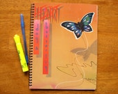 Record Album Cover Journal Notebook - HEART - Vinyl LP Recycled