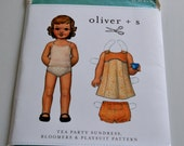Oliver & S Tea Party Sundress, Bloomers and Playsuit Sewing Pattern Sz 2-5