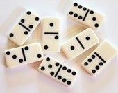 Seven Miniature Off-White Dominoes for Jewelry, Altering, or Decor