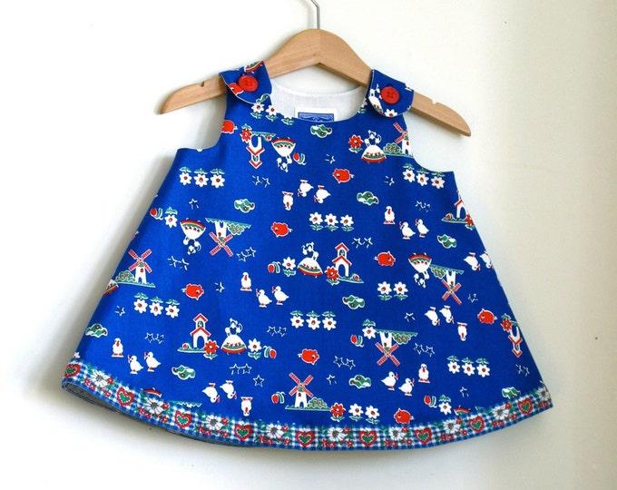 Girls Dress, Toddler Dress, Little Girls Dress, Windmills & Milkmaids Dress, Newborn Dress, Country Dress, Milkmaid Costume, Dutch Dress