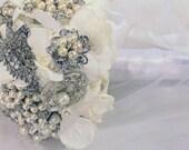 Wedding Rhinestone Pearl Broach Bouquet