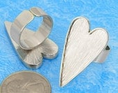 100pcs  Silver tone  Heart tray Adjustable pewter Ring Blank -Saint Valentine Day