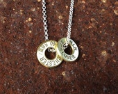 bullet casing top necklace 9mm Winchester luger and 40 Winchester Smith and Wesson sterling silver chain