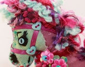 Unusual Horsies - Magenta and Turquoise Little Pony Quilty Critters  - Choose from two designs - queenartist